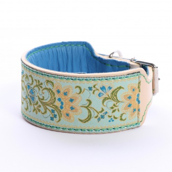 DG collar with ribbon Flower Mix L