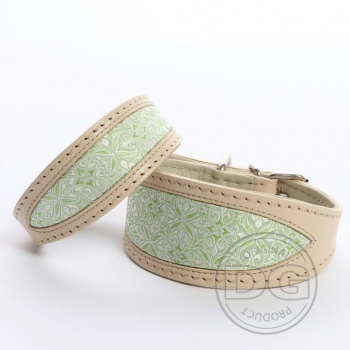 DG Exclusive collar BROCADE GREEN